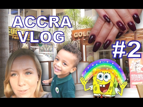 ACCRA VLOG: #2: Senam's Day Spa, Sponge Bob Takeaway Cup and My Son