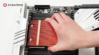 How to install Dynatron A28  Heatsink on AMD®  Socket sTRX4/TR4/SP3