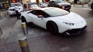 Lamborghini Huracan loud exhaust at Dubai mall