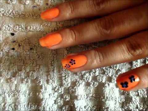 Repeat Manicura de uñas cortas: dos mitades y flor by Iguelda ...