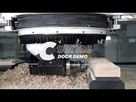 5-Axis CNC Router Machining A Wooden Door | The C-Series by C.R. Onsrud