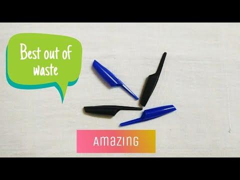 Best out of waste pen caps craft idea / Diy key holder/ best out of waste craft idea /Preeti Chauhan