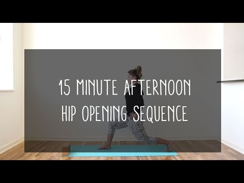 15min afternoon hip opening sequence - YouTube