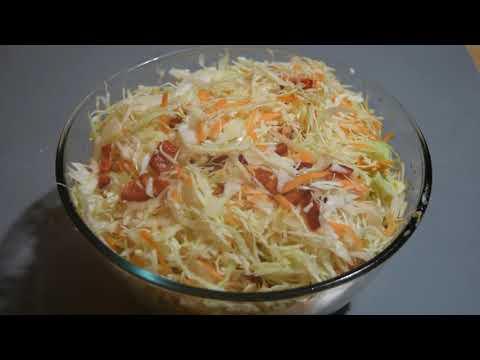 Быстрая маринованная капуста. Самый вкусный салат . Закуска.