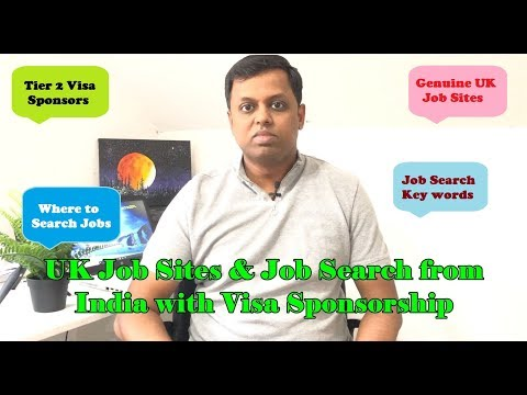 UK Job Sites & Job Search From India With Visa Sponsorship | Tamil