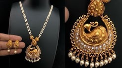 Pearl Necklace Gold Pendant Designs