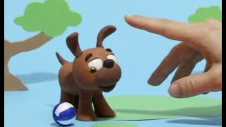 Cute puppy dog Stop motion cartoon for children - BabyClay