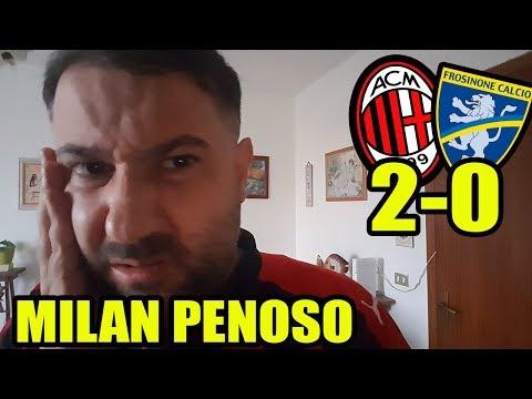 MILAN PENOSO! Contro la SPAL cosi PERDIAMO!    Milan-Frosinone 2-0