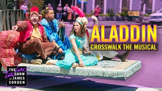 Download lagu Crosswalk the Musical Aladdin ft Will Smith Naomi Scott Mena Massoud