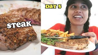 i tried steak for the first time - day 5 | clickfortaz
