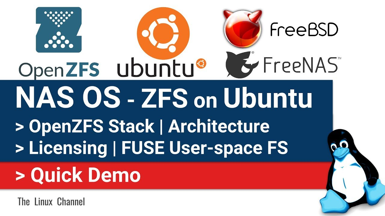 0x174 NAS OS || ZFS on Ubuntu Server || OpenZFS Stack || Architecture ||  License || FUSE || Demo