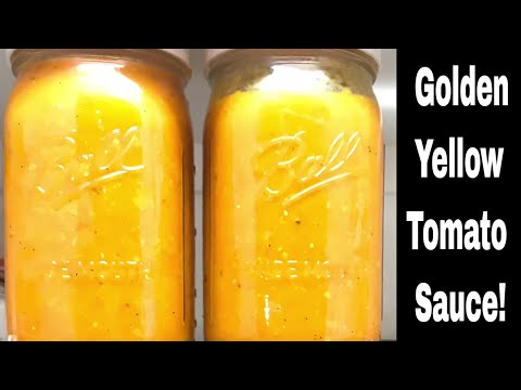 Golden Yellow Tomato Sauce - Simple, Easy, And Tastes Great!