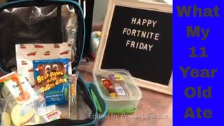 What I Packed for my Middle Schooler - School Lunches Wk 15