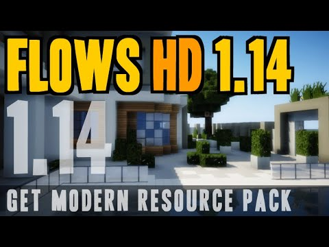 How To Get Modern Texture Pack In Minecraft 1.14 - Download And Install Flows HD 1.14 Resource Pack