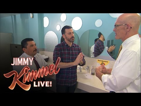Jimmy Kimmel and Guillermo Learn How to Wash Their Hands