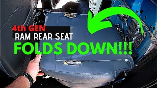 RAM How To FOLD DOWN REAR SEAT!!!