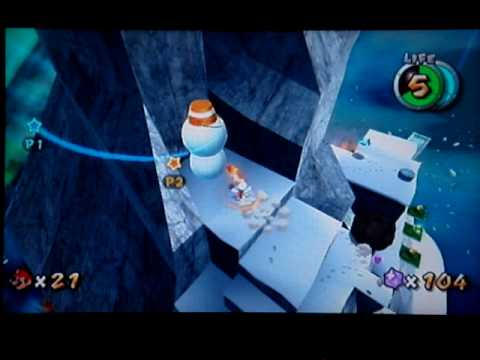 Super Mario Galaxy Walkthrough: Freezeflame Galaxy Secret Star - Conquering the Summit