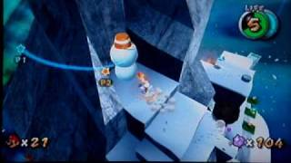 Super Mario Galaxy Walkthrough: Freezeflame Galaxy Secret Star - Conquering the Summit