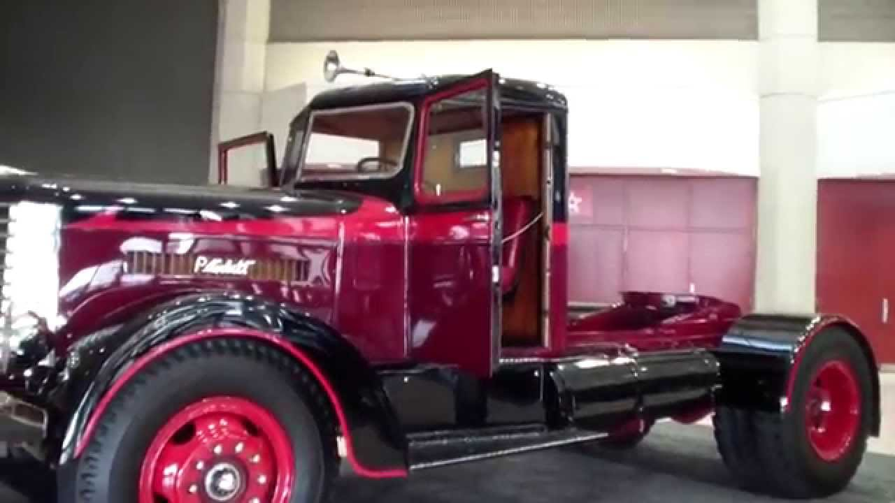 Old peterbilt truck displayed at the mid america trucking show ky youtube - Pictures of old peterbilt trucks ...