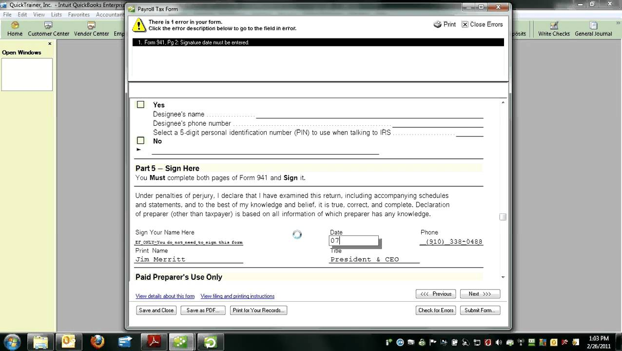 QuickBooks - How to Reprint a 941 Form.avi - YouTube