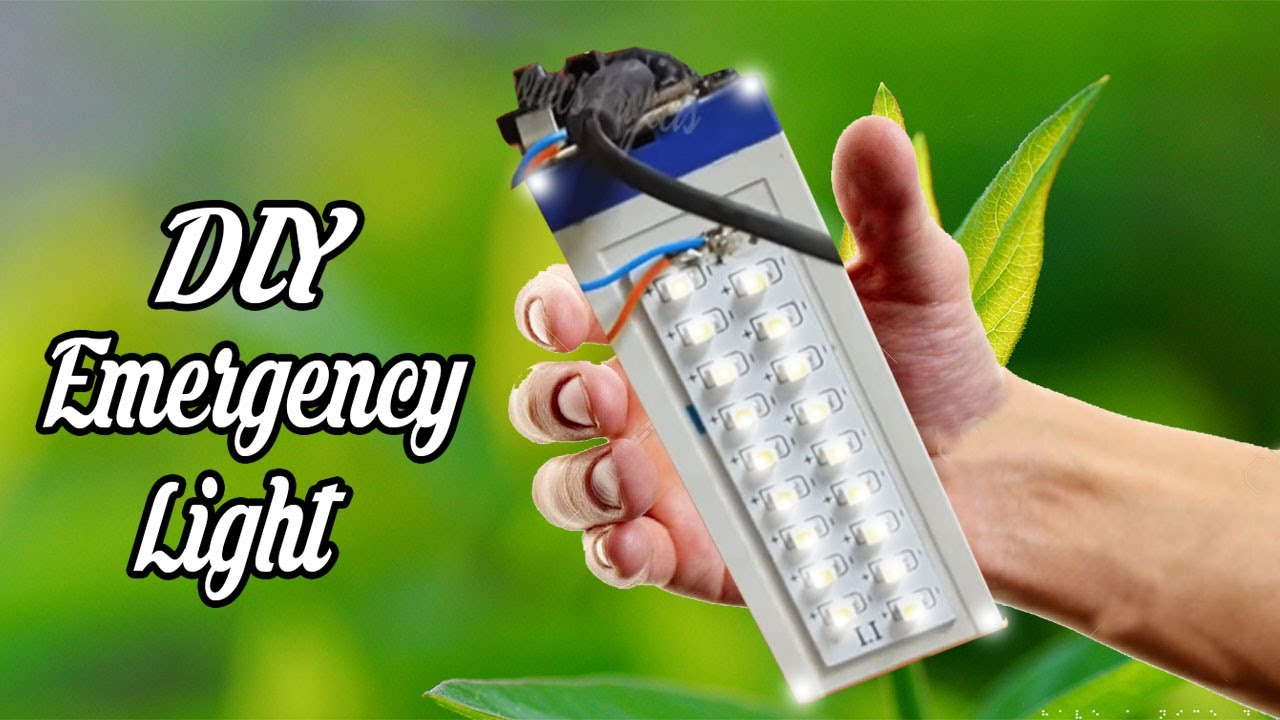 how to make rechargeable led light at home [ 1280 x 720 Pixel ]