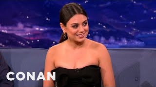 Mila Kunis Thinks Russian Sounds Like Klingon - CONAN on TBS