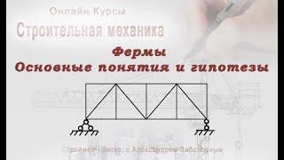 2-04-00 Фермы основные понятия и гипотезы, Строительная механика