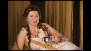 Lucy Lawless as Lucretia in Spartacus: Gods of the Arena (2011)
