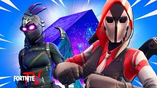 'NEW' Ravage Skin VS 'BRAND NEW' Ace Starter Skin and GIANT LIGHTNING CUBE in Fortnite Battle Royale