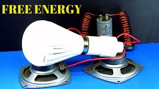 How To Get Free Electricity Generator 1000W - 230v Free Energy Light Bulb Science Experiment 2019