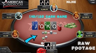 POKER - $10/$20 Cash Game Session (NLHE) Americas Card Room Online Poker