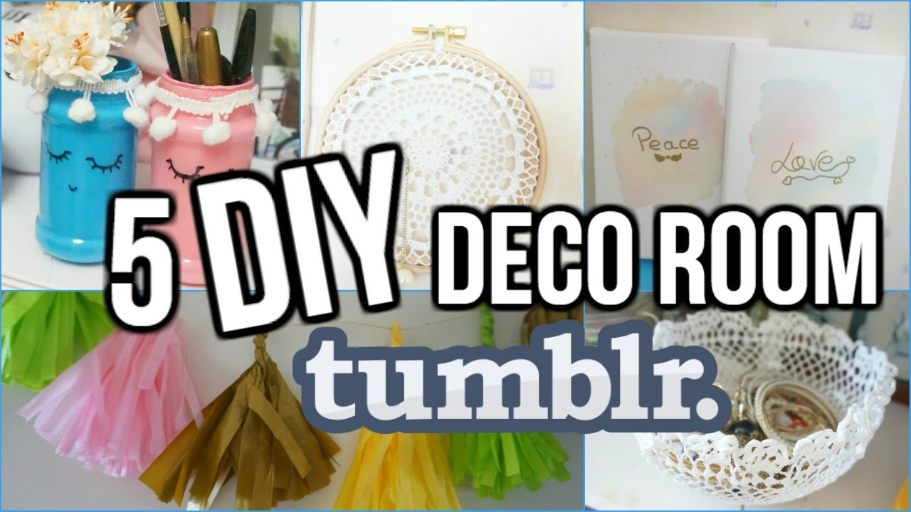 5 diy deco chambre tumblr i diy fran ais youtube. Black Bedroom Furniture Sets. Home Design Ideas