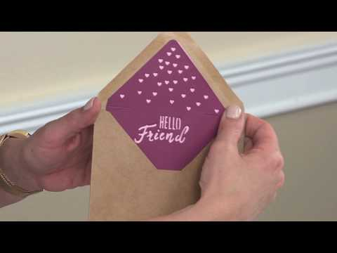 Tips & Tricks: Sizzix Envelope Liner Kit Featured on HSN