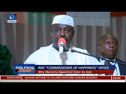 """""""Commissioner Of Happiness"""" Why Okorocha Appointed Sisters As Aids"""