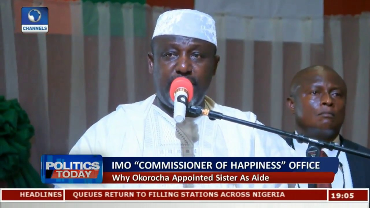 "Download ""Commissioner Of Happiness"" Why Okorocha Appointed Sister As Aide"