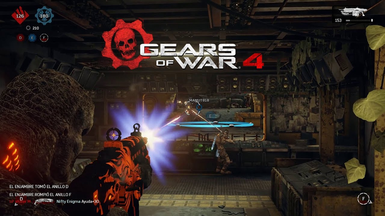 Gears of War 4 (GOW4) PC Gameplay | Privada Pc vs Pc | 1080p 60fps