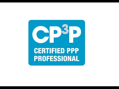 CP³P - Certified PPP Professional - Jyoti Bisbey (World Bank)