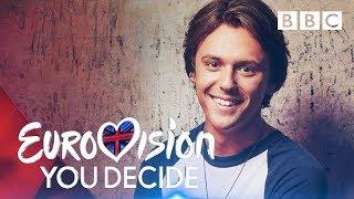 BBC Karar Jordan Clarke sings 'Ucube'   Eurovision: -