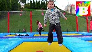Trampoline park fun at Palas Mall Iasi! Fun jumping for Kids  at Bogdan`s Show