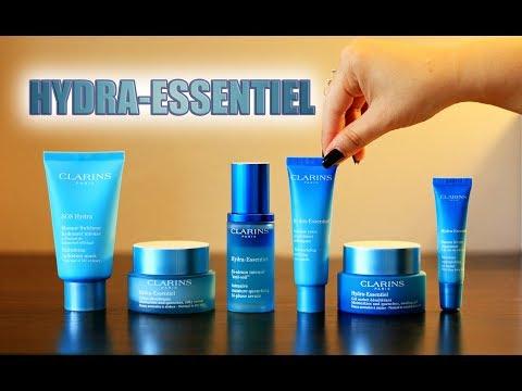 CLARINS HYDRA-ESSENTIEL LINE   Bi-phase Serum, Eye Mask, SOS Hydra Mask, Lip Balm & Creams
