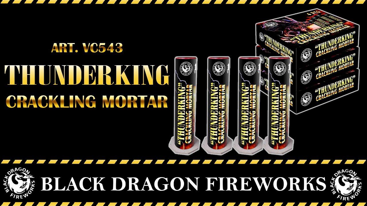 Art.VC543 Thunderking Crackling Mortar Magnum Vuurwerk