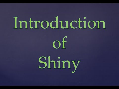 Introduction of Shiny Web Application Framework in R | How to make shiny apps