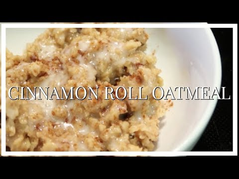 CROCKPOT CINNAMON ROLL OATMEAL | COOK WITH ME | BREAKFAST RECIPE