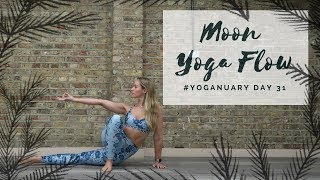 DAY 31: MOON YOGA FLOW | Yoganuary Yoga Challenge | CAT MEFFAN