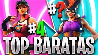 TOP 10 BEST CHEAP SKINS IN FORTNITE 🤑 THE BEST SKIN BARATA OF 800 PAVOS IN FORTNITE