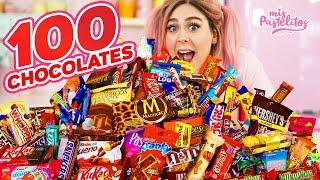 MEZCLÉ 100 CHOCOLATES Y ESTO PASÓ | MIS PASTELITOS