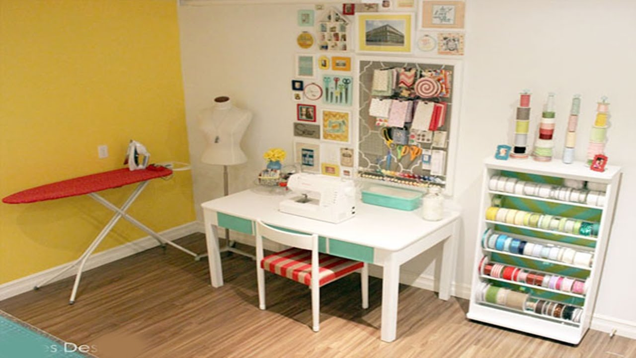 Ideas For Sewing Room Design Part - 33: Sewing Room Designs U0026 Ideas - YouTube