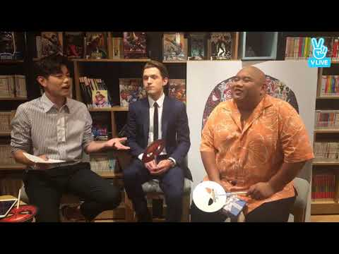 Spiderman homecoming: Tom Holland, Jacob Batalon, Eric nam korean interview
