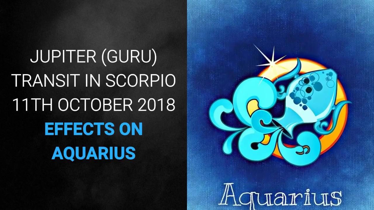 Jupiter Transit (Guru Gochar) in Scorpio 2018- 2019, Effects