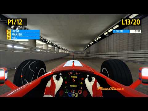 F1 2013 PC Gameplay, Classic Edition, Ferrari F399, Irvine, Monaco Race 25%, by PixxelRacer